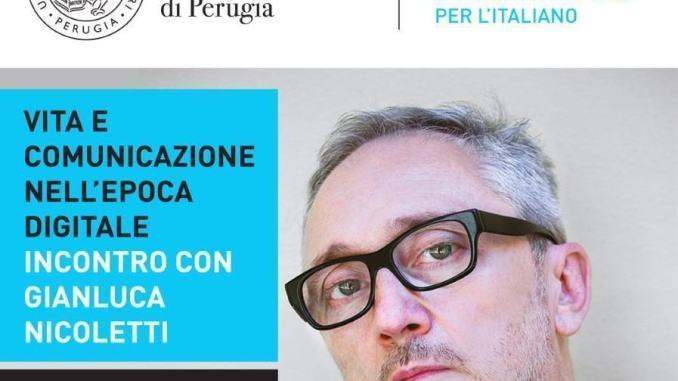 Gianluca Nicoletti all'università per stranieri il 9 luglio in diretta streaming
