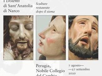 I Dolenti di Sant'Anatolia in mostra a Perugia presso il Nobile Collegio del Cambio