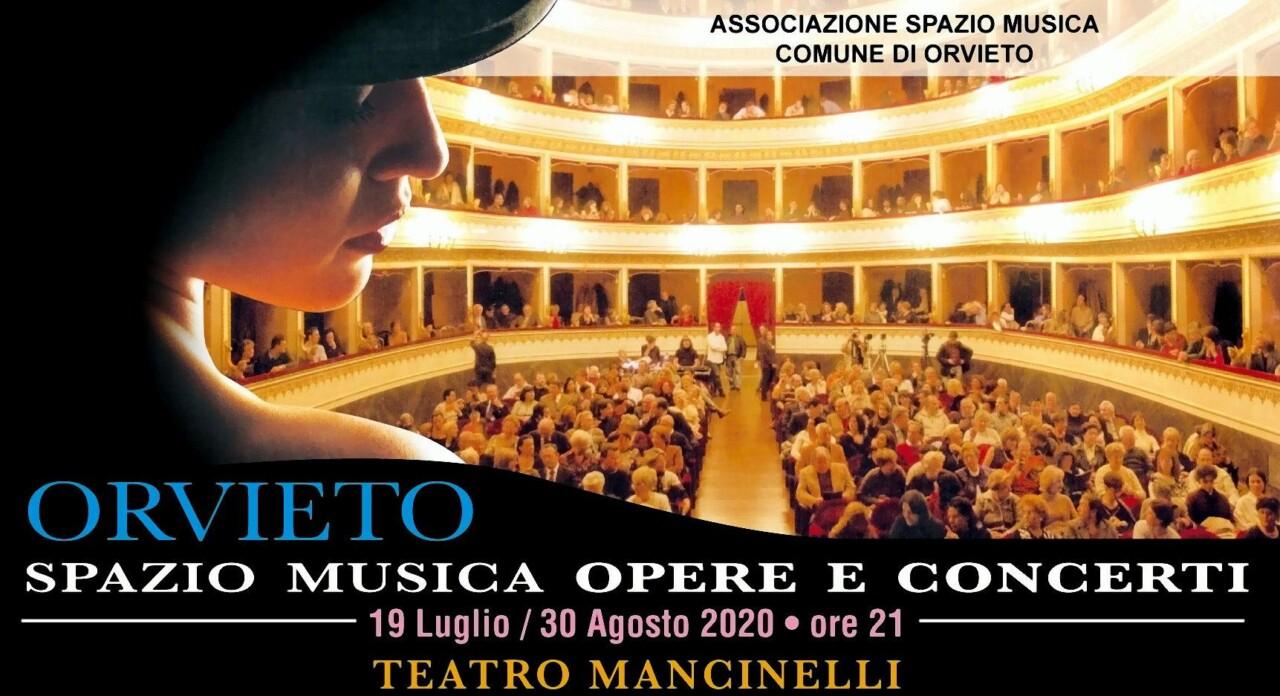 Spazio Musica Opere e Concerti 2020 al Teatro Mancinelli di Orvieto, recital
