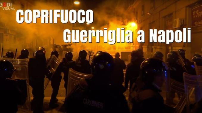 Napoli coprifuoco covid violato e guerriglia urbana, aggredita troupe tv