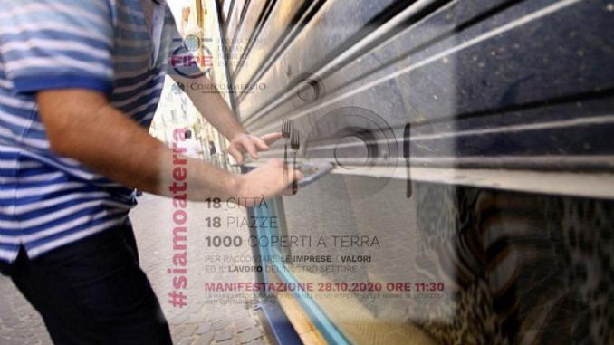 #Siamoaterra, manifestazione 28 ottobre pubblici esercizi Confcommercio