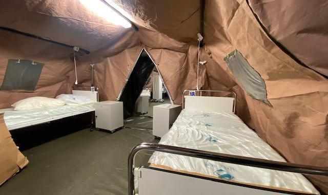 Ospedale esercito allestito in tre giorni, Perugia ringrazia