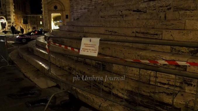 Scalette, aree verdi e zone centro storico di Perugia chiuse il sabato