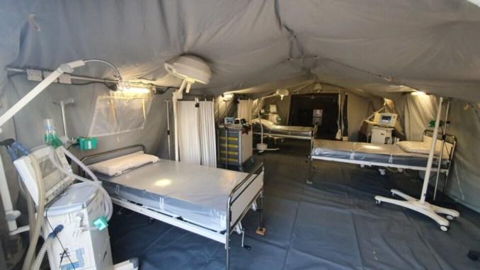 Ospedale da campo Esercito, pazienti paucisintomatici covid da giovedì 11 novembre