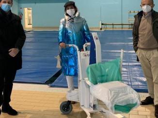 Nuovo sollevatore per disabili alla piscina di Ponte San Giovanni