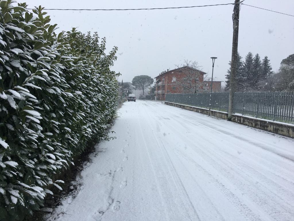 La neve arriva a Perugia, primi fiocchi anche in città 🔴 VIDEO E FOTO 📸