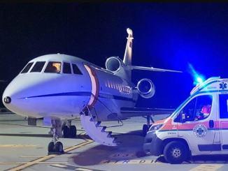 Bambina stabilizzata all'Ospedale di Perugia, con il Falcon trasportata al Niguarda di Milano