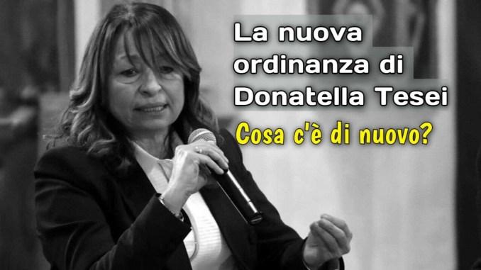Umbria resta arancione, cosa dice la nuova ordinanza della Presidente, Donatella Tesei