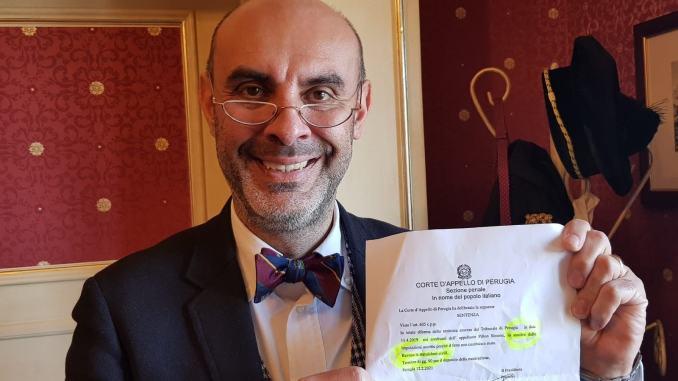 Insulti ad LEGBT, Corte d'Appello Perugia, ribalta primo grado, assolto Simone Pillon