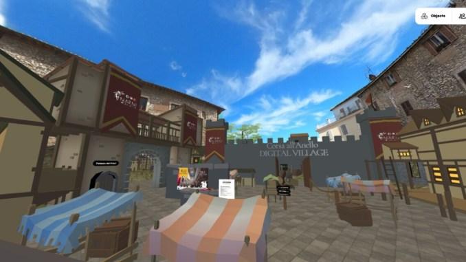 Corsa all'Anello a Narni e il programma in piattaforma 3D