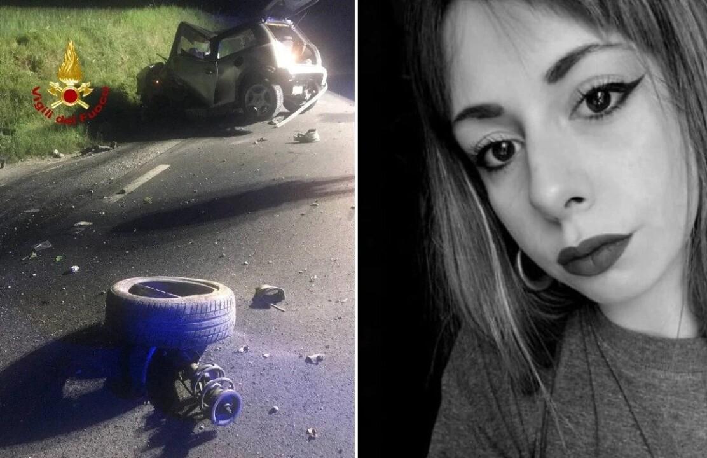 Incidente mortale, nella notte, muore Elisa Cesari di 21 anni