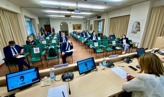 Villa Umbra, l'incontro degli amministratori regionali con la presidente Tesei