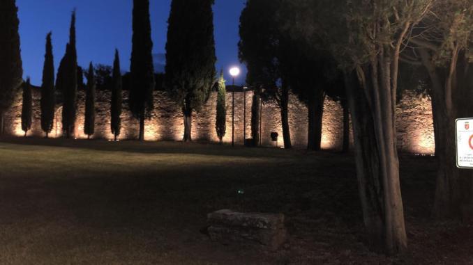 #Lacittàchecambia nuova illuminazione per il giardino del tempio di Sant'angelo