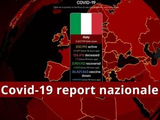 Covid-19 bollettino Italia, continua calo positivi nell'incidenza settimanale