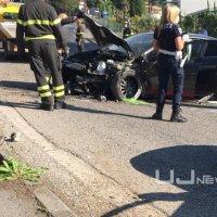 Incidente stradale a Pian di Massiano, fanno tutto da soli e poi scappano