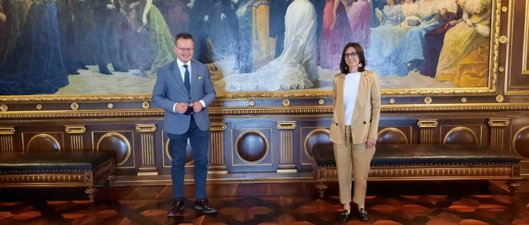 Agroalimentare, Morroni incontra Cristina Colaiacovo