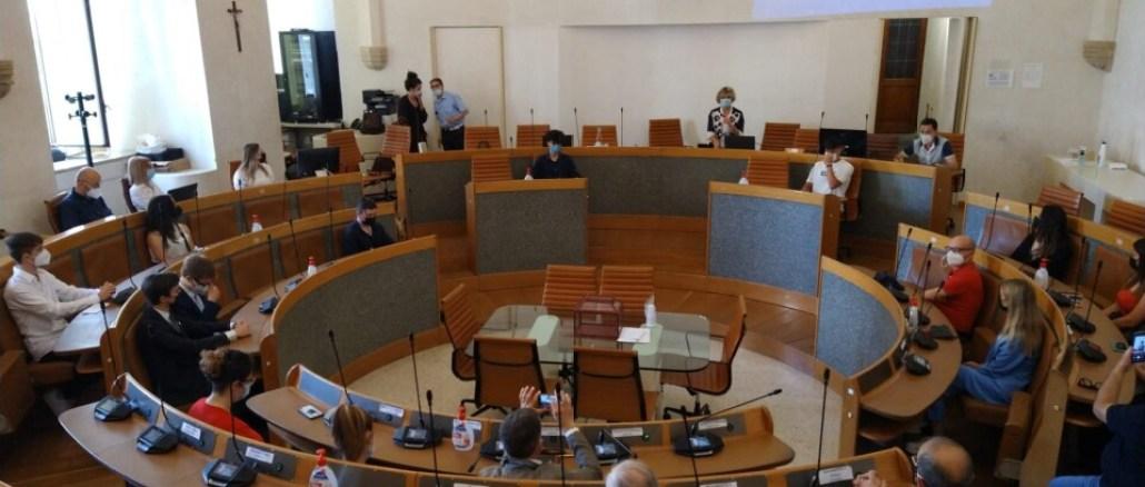 Cerimonia di consegna della Costituzione ai neo maggiorenni di Perugia