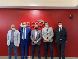 Imprese e territorio, l'Assessore Morroni in visita all'azienda Befood, eccellenza umbra nel settore della produzione di dry pet food.