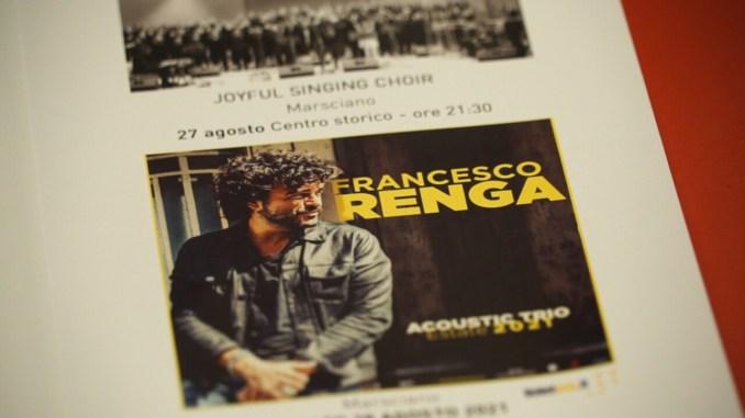 Francesco Renga e l'omaggio a Battiato per Musica per i Borghi 2021