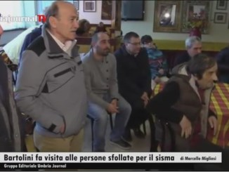 Assessore Bartolini visita gli abitanti delle zone terremotate ospitati negli alberghi del perugino