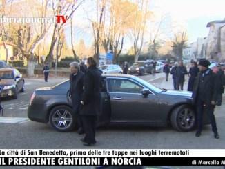 Premier Paolo Gentiloni ha visitato Norcia per la vigilia di Natale
