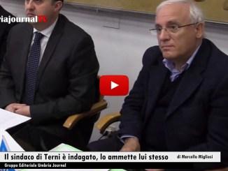Il sindaco di Terni, Leopoldo Di Girolamo, è indagato dal 20 marzo 2016