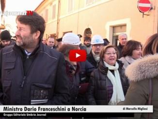 Il Ministro Beni Culturali Dario Franceschini ha visitato Norcia