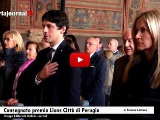 Premio Lions Città di Perugia Consegnato al sindaco Andrea Romizi