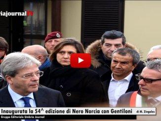 Paolo Gentiloni a Norcia per inaugurare la mostra mercato del tartufo