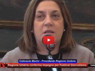 Festival giornalismo, Marini, raccontate l'Umbria