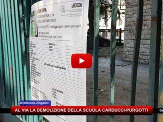 """Perugia, ci vorranno due mesi per la demolizione della scuola """"Carducci-Purgotti"""""""