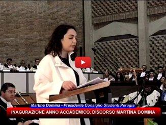 Università di Perugia, la presidente Martina Domina parla a nome degli studenti