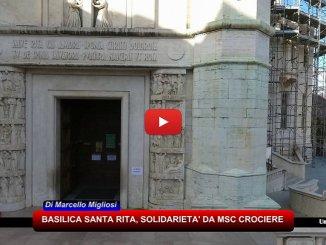 MSC Crociere ristruttura Basilica Santa Rita Cascia dopo terremoti 2016