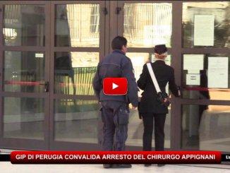 Perugia, convalidato l'arresto del chirurgo Antonino Appignani