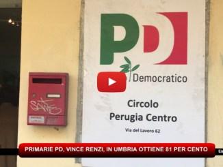 Primarie Pd, Renzi in Umbria vince con l'81 per cento