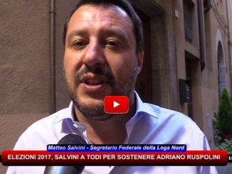Matteo Salvini a Todi per sostenere candidatura di Adriano Ruspolini