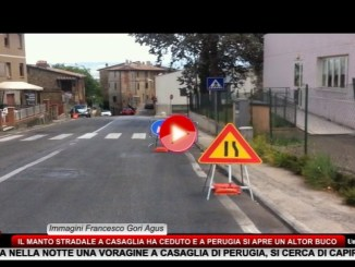 Perugia, aperta voragine a Casaglia, immediati gli interventi