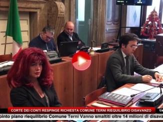 Comune di Terni, Corte dei Conti boccia piano di riequilibrio finanziario
