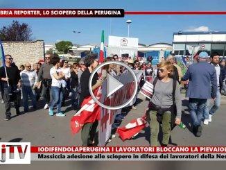 Iodifendolaperugina, massiccia adesione a sciopero video blocco stradale