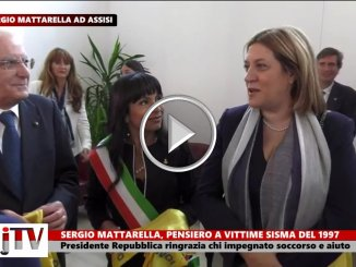 Mattarella, pensiero a vittime sisma '97 ringrazia volontari del soccorso