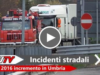 Incidenti stradali in Umbria, nel 2016 incremento rispetto al 2015