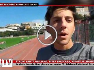 Perugia, Stadio Santa Giuliana pista spaccata e niente allenamenti