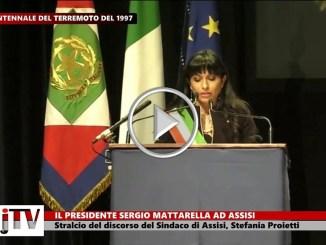 Sergio Mattarella ad Assisi, discorso diStefania Proietti