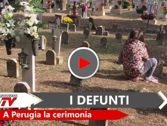 Ricordo dei defunti a Perugia, onore ai caduti al cimitero monumentale
