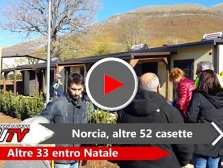 Consegnate a Norcia altre 52 SAE, ammonta a 308 il totale di casette occupate