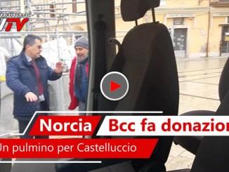 Video del pulmino donato dalla Bcc alla onlus di Castelluccio di Norcia