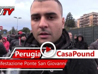 Corteo CasaPound, il video della manifestazione a Ponte San Giovanni