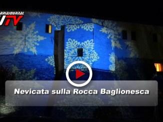 Neve e colori sulla Rocca Baglionesca a Bastia Umbra