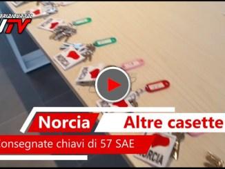Consegnate a Norcia le chiavi di altre 57 SAE, il video