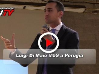 Luigi Di Maio, il candidato premier del Movimento 5 Stelle, a Perugia, il video